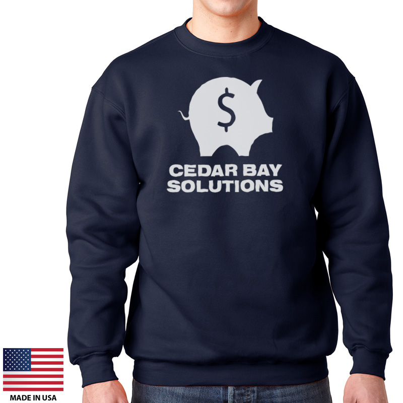 0f05fe27c Custom Sweatshirts Made In USA, 80-20 Crewneck #US110