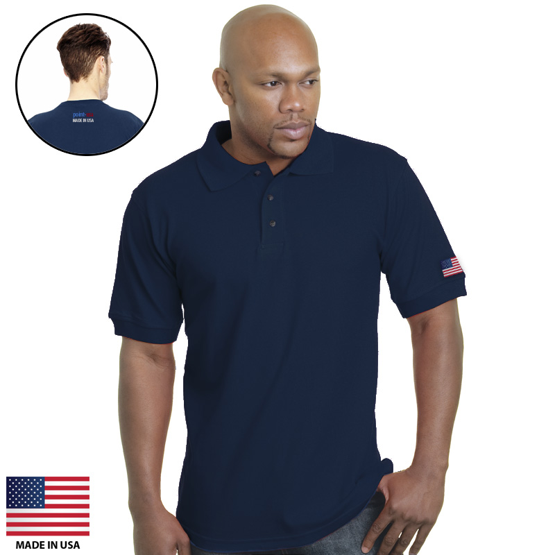 Promotional Point-USA Flag CUSTOM Sport Shirts Made In USA