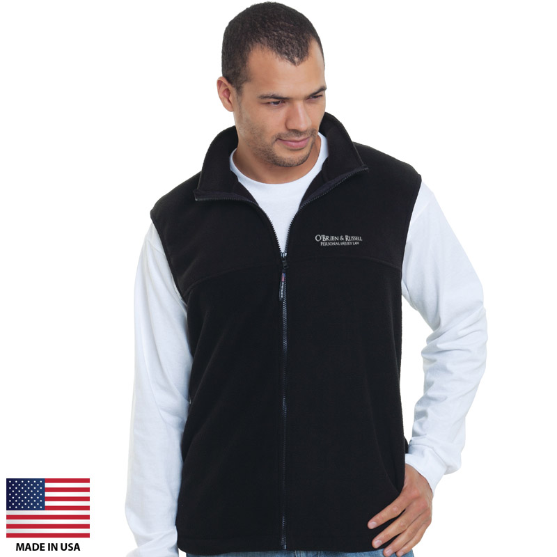 Custom Fleece Vests Made In USA