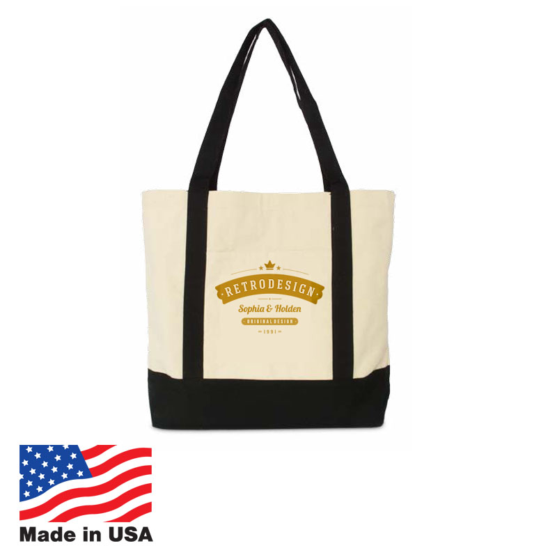 USA Promotional 18x15 Natural Cotton Budget Bags