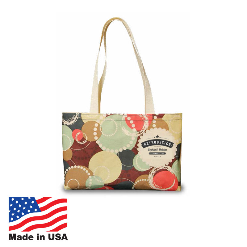 USA Promotional 15x10 Recycled Poly Shoulder Bags