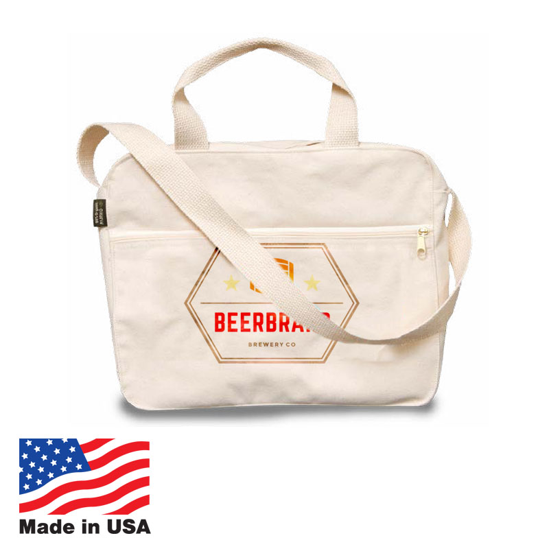 USA Promotional 14x12 Natural Attache Carrybags