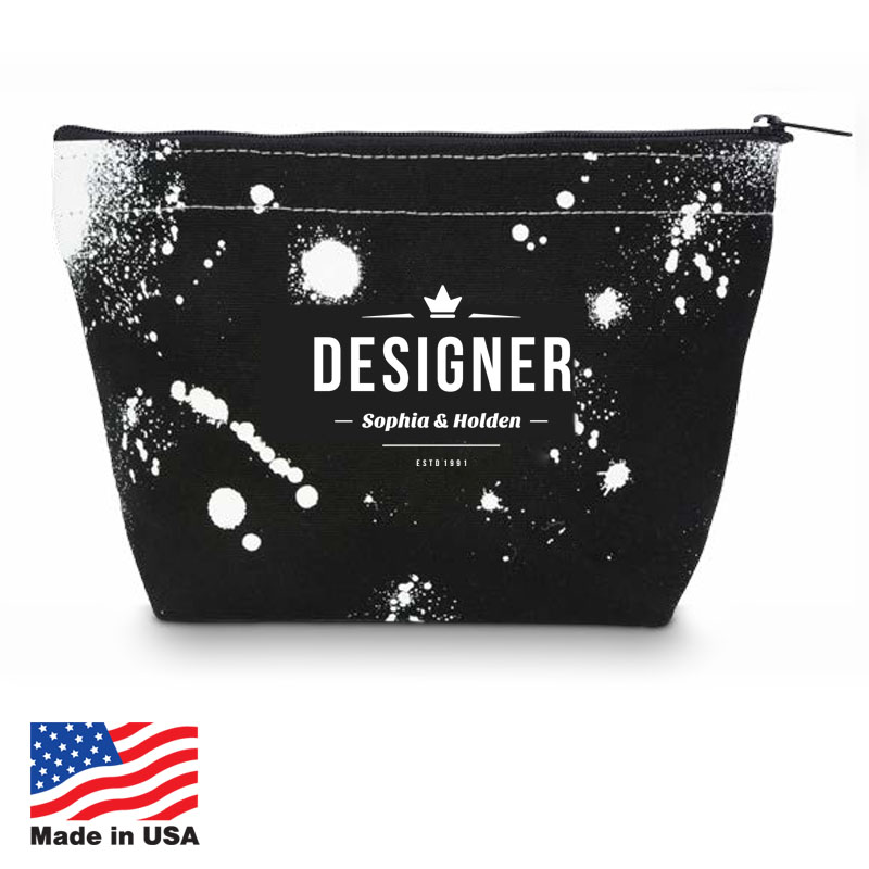 USA Promotional 10x7 Canvas Cosmetic Bags