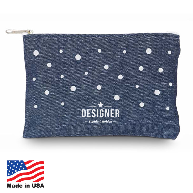 USA Promotional 7x5 Denim Cosmetic Bags