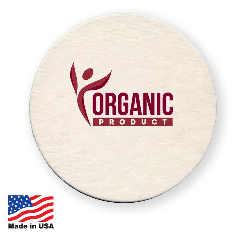USA Promotional 45 Pt Natural Pulpboard Coasters