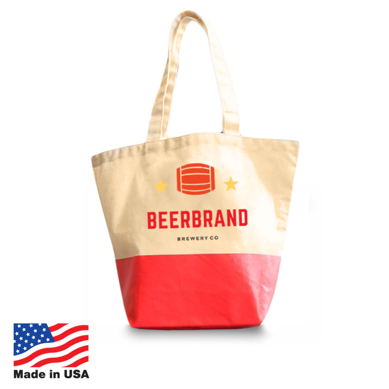 USA Promotional 18x13 Two-Tone Totebags
