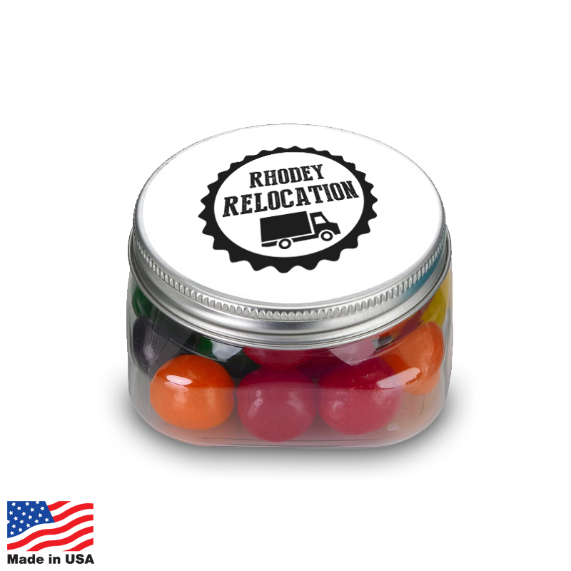 USA Promotional 4oz Square Candy Jars