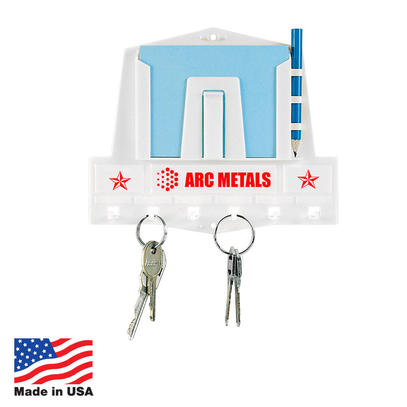 Custom Key Holder with Paper and Pencil Made In USA