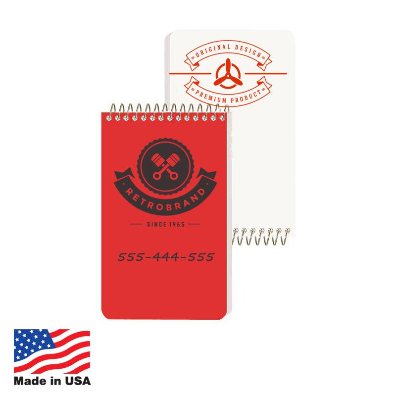 Notebooks, 3x4 40-Sheet Coil USA 3x4 40-Sheet Coil Notebooks,USA Promotional 3x4 40-Sheet Coil Notebooks,USA Imprinted 3x4 40-Sheet Coil Notebooks,USA Custom 3x4 40-Sheet Coil Notebooks