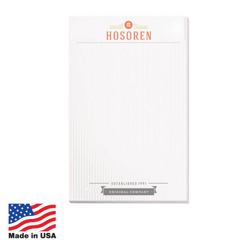 Scratch Pads, 5x8 50-Sheet USA 5x8 50-Sheet Scratch Pads,USA Promotional 5x8 50-Sheet Scratch Pads,USA Imprinted 5x8 50-Sheet Scratch Pads,USA Custom 5x8 50-Sheet Scratch Pads