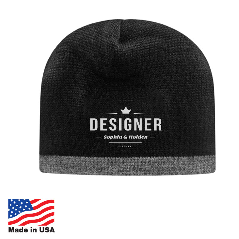Custom Knit Beanies Made In USA