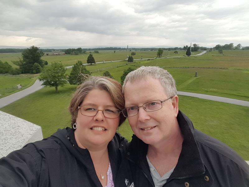 overlook of Gettysburg battlefield