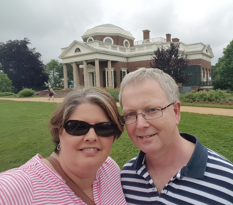 in front of Monticello